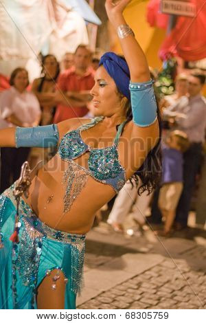 Belly Dancer With Sword