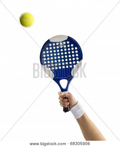 Close Up Of Hand With A Tennis Paddle