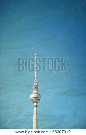 Vintage Tv tower or Fersehturm in Berlin,Germany