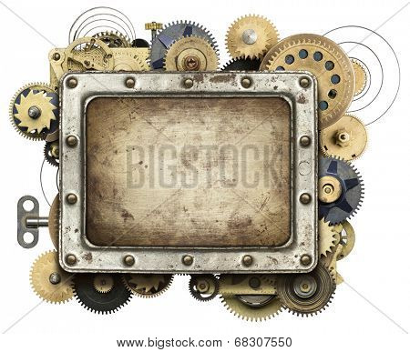 Stylized mechanical collage background