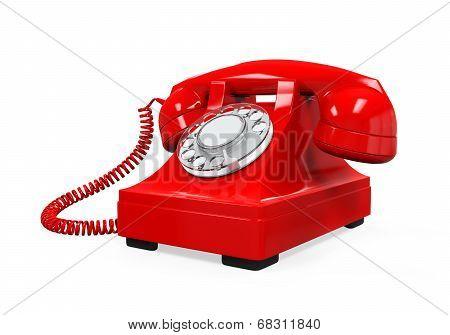Vintage Telephone Isolated