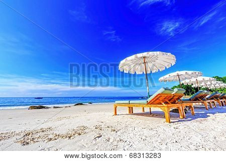 Umbrella On The Beach.