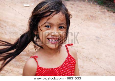 Smiling Cambodian Girl