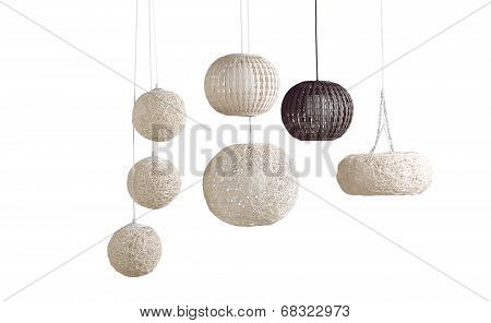 rattan ceiling lamps
