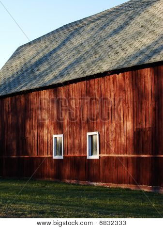 Side of a Red Barn
