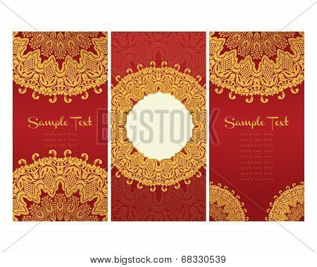 greeting cards  in east style on red background text