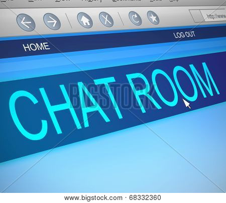 Chat Room Concept.