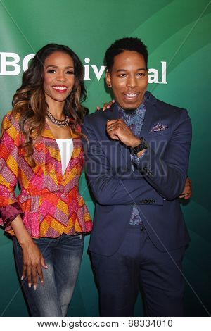 LOS ANGELES - JUL 14:  Michelle Williams, Deitrick Haddon at the NBCUniversal July 2014 TCA at Beverly Hilton on July 14, 2014 in Beverly Hills, CA