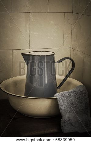 Retro Bathroom - Jug And Basin