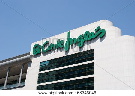 VALENCIA, SPAIN - JULY 10, 2010: El Corte Ingles department store in Valencia. El Corte Ingles is the biggest department store group in Europe and 4th largest worldwide.