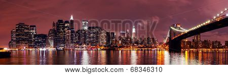 New York City Manhattan Night Scene