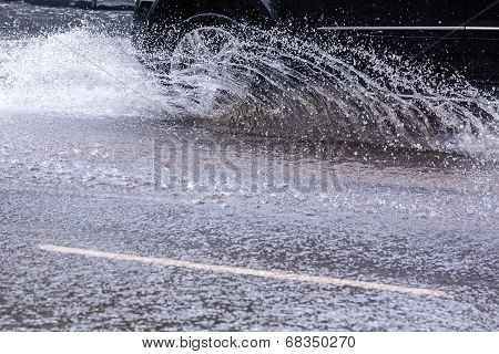 Splashing Car