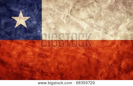 Chile grunge flag. Vintage, retro style. High resolution, hd quality. Item from my grunge flags collection.