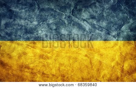 Ukraine grunge flag. Vintage, retro style. High resolution, hd quality. Item from my grunge flags collection.