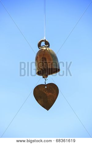 Old Golden Bell Hung In The Blue Sky