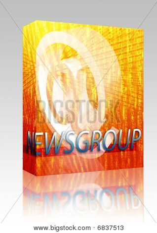 Online Newsgroup Box Package