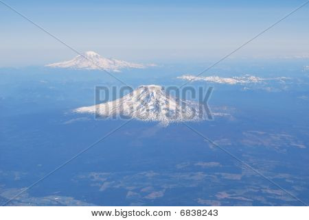 Aerial View of Cascade Mountains