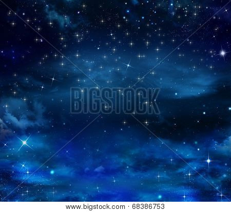 beautiful background of the night