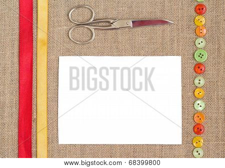 Sewing set background