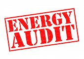ENERGY AUDIT red Rubber Stamp over a white background. poster