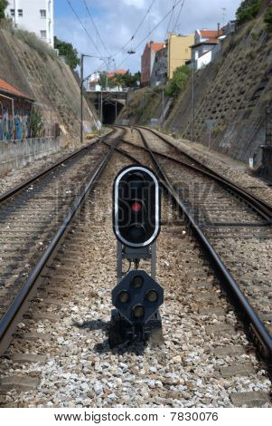 Railway track signal