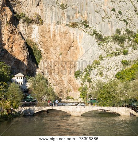 Famous dervish house in Blagaj Buna, near to Mostar in Bosnia and Herzegovina