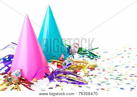 Two Birthday Party Hats
