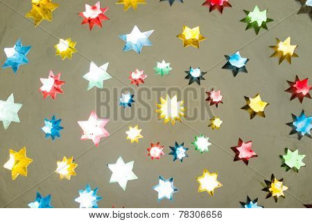 Stars decoration on ceiling of Buna's tekija in Mostar, Bosnia poster