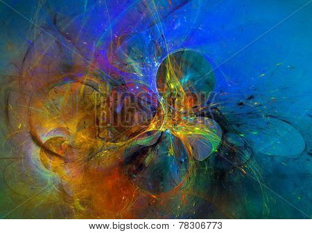 Modern abstract background design with space for your text. Suitable for spiritual,science,music, art and technology projects.