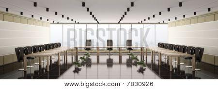 Moderna sala de juntas Panorama Interior 3D