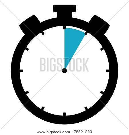 Stopwatch Icon: 5 Minutes / 5 Seconds / 1 Hour