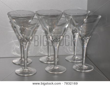 Martinis Glasses Resting Till Summer