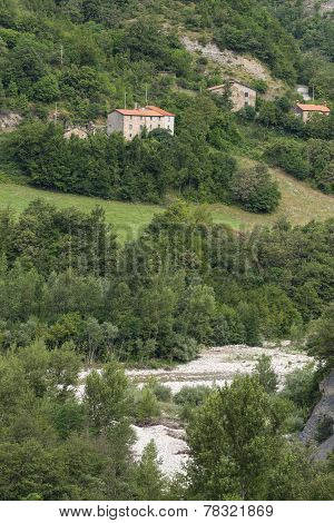 Mountain landscape in Montefeltro (Marches Italy) at summer poster