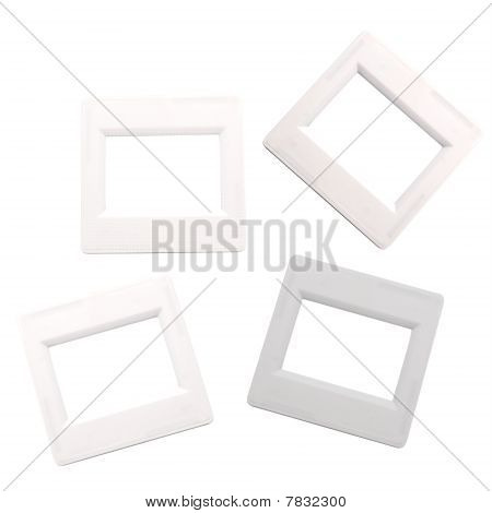 Frames For A Photos - A Slides  Isolated On A White Background