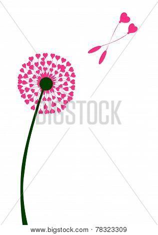 Dandelion Heart Seed Lovers