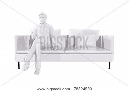 Businessman Sitting On A Couch