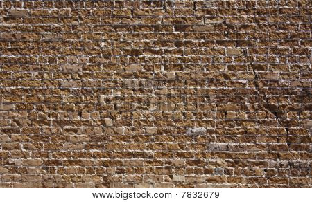 Textured Red Brick Wall