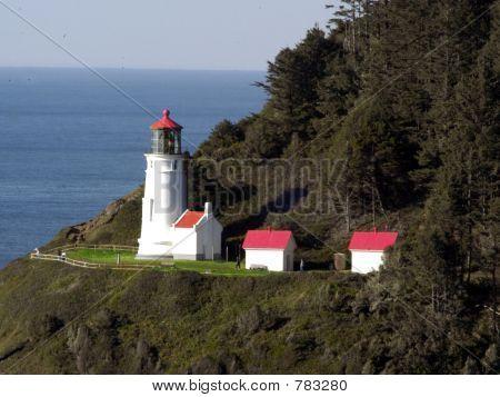 The Light House at Heceta Head near Florence, Oregon.