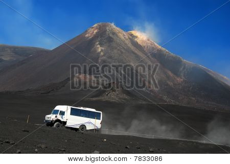 Highest Volcano In Europe, Etna, Sicily