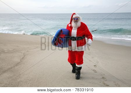 Surfing Santa Claus, Saint Nicholas,  Father Christmas, Kris Kringle, Santa, Sinterklaas, Saint Nicholas,  Father Christmas,  ?axta Baba aka Froze Dad, Christkind aka Christ child,  P�¨re No�«l,