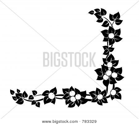 Decorative corner nature ornament poster