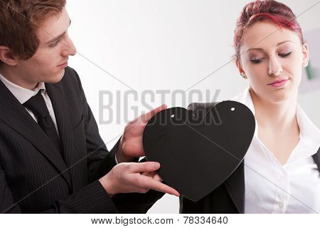 Business Man Loving Busines Woman