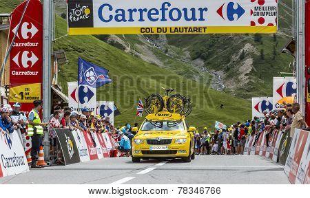 Mavic Car On Col Du Lautaret