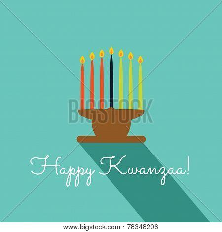 Happy Kwanzaa Merry Christmas Card