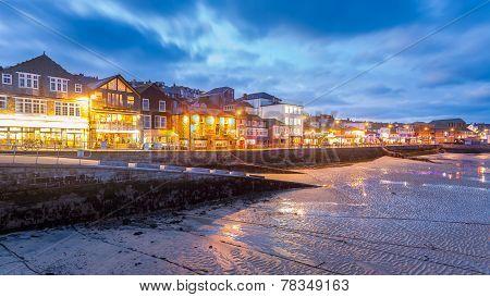 St Ives At Night Cornwall England