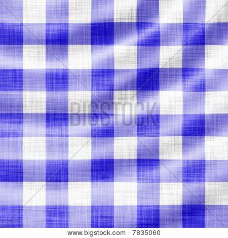 blue picnic cloth