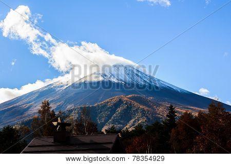 Mount Fuji .