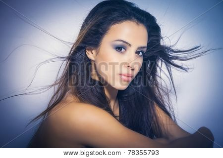 perfect nourished young woman beauty portrait poster