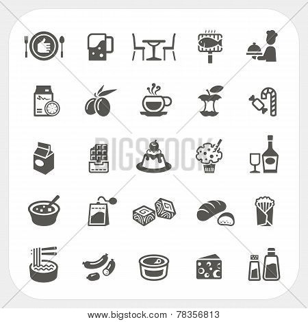 Food And Dessert Icons Set