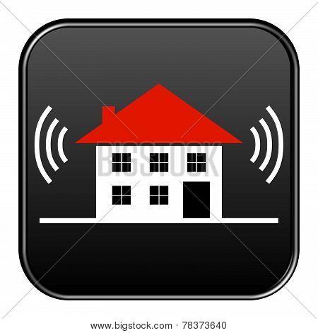 Black Button House alarm